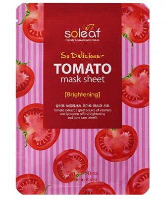 Маска тканева укрепляющая с томатом Soleaf So Delicious Tomato Mask Sheet 25 мл: фото