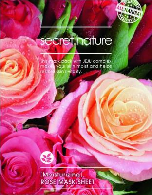 Тканевая маска для лица с розой Secret Nature Moisturizing Rose Mask Sheet 25 мл: фото