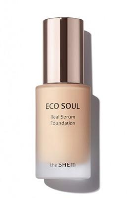 Тональный крем-сыворотка The Saem Eco Soul Real Serum Foundation SPF50+ PA++++ 23 Natural Beige 35мл: фото