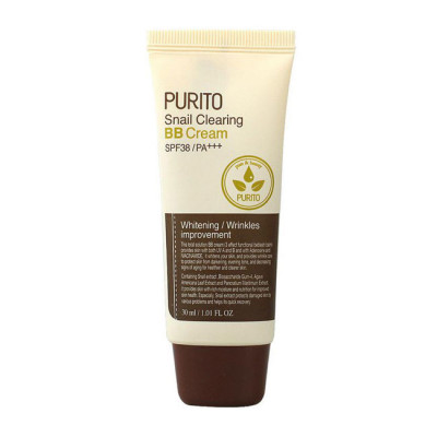 BB-крем с муцином улитки PURITO Snail Clearing BB cream №21 Light Beige 30мл: фото