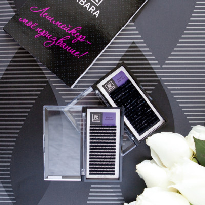 Чёрные ресницы BARBARA Elegant МИКС (D+ 0.10 7-15mm): фото