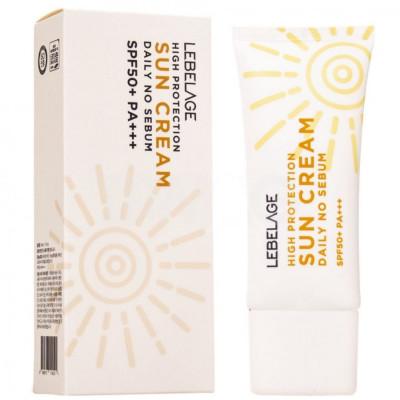 Крем солнцезащитный ежедневный Lebelage High Protection Daily no sebum Sun cream 30мл: фото