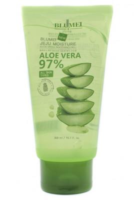 Успокаивающий гель с алоэ Blumei Jeju Moisture Aloe 97% Soothing Gel 300 мл: фото