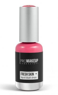 Эмульсионные румяна PROMAKEUP laboratory FRESH SKIN liquid blush drops 02 peach 8,5мл: фото