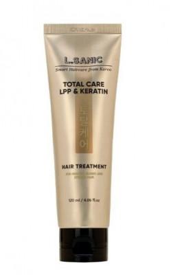 Маска для комплексного ухода за волосами с липопротеиновым комплексом и кератином L.SANIC TOTAL CARE LPP & KERATIN HAIR TREATMENT 120мл: фото