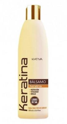 Укрепляющий бальзам-кондиционер с кератином для всех типов волос Kativa KERATINA 250мл: фото