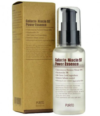 Эссенция с ниацинамидом и галактомиссисом PURITO Galacto Niacin 97 Power Essence 60мл: фото